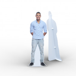 Figure cutout with white edge