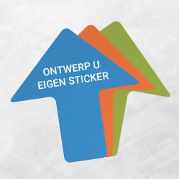 Pijl-vorm vloersticker (eigen ontwerp)