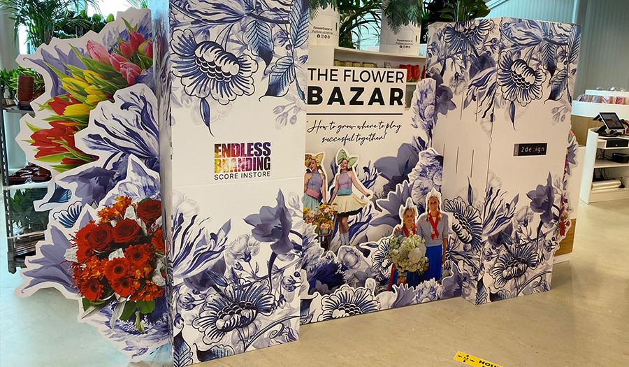 Beursaankleding Flower Bazar