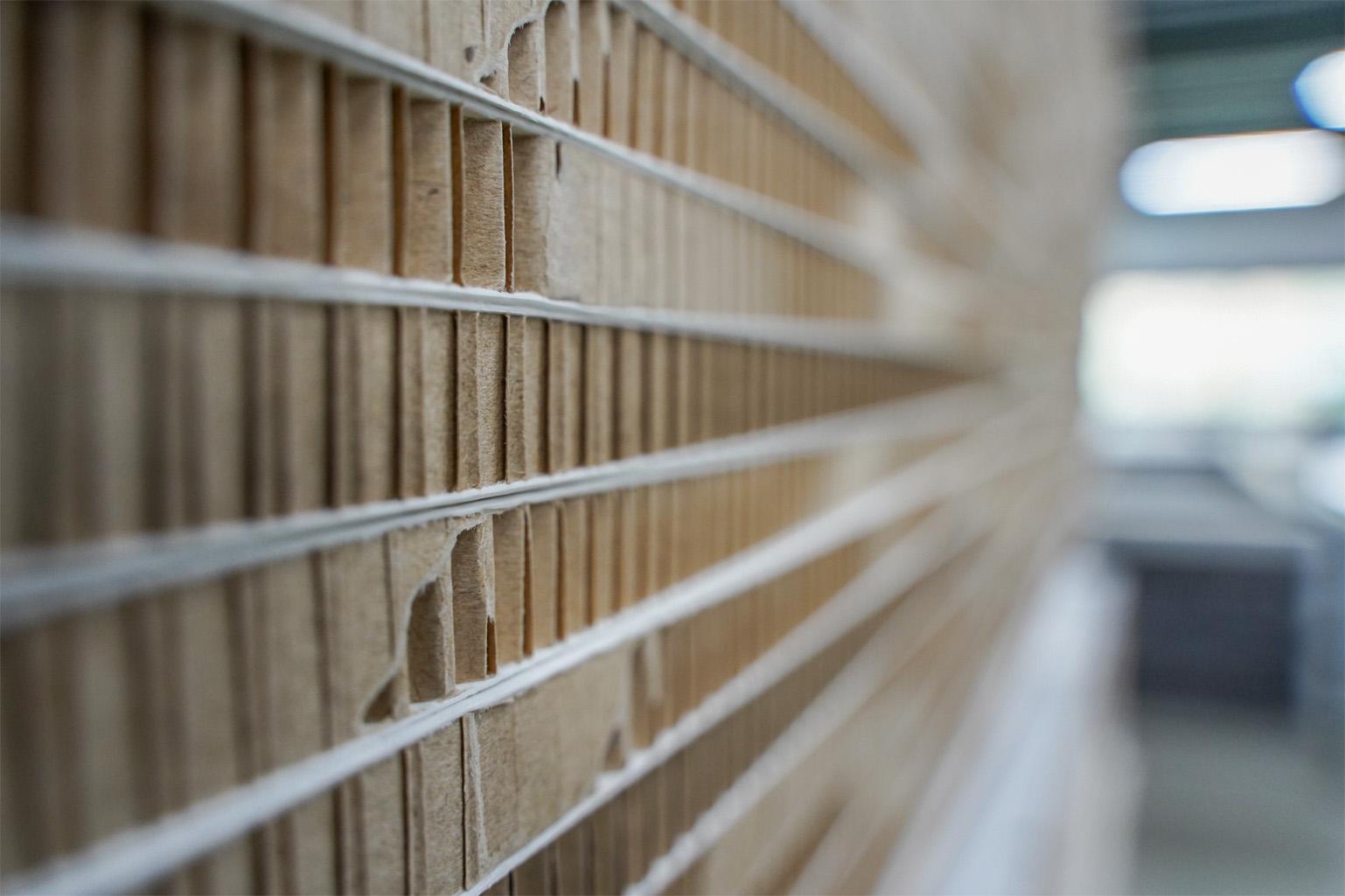 Honingraat kartonnen display